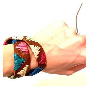 Noonday leather wrap bracelet